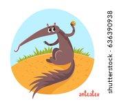 anteater in cartoon style....
