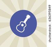 guitar icon. sign design....