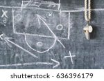 whistle of a soccer or football ... | Shutterstock . vector #636396179