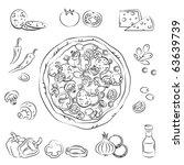 vector sketch collection of... | Shutterstock .eps vector #63639739
