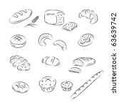 vector sketch collection of... | Shutterstock .eps vector #63639742