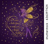 Silhouette Of Little Fairy Wit...