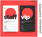staff and vip entry id card... | Shutterstock .eps vector #636399590