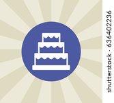 wedding cake icon. sign design. ...   Shutterstock .eps vector #636402236