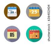 calendar icons   Shutterstock .eps vector #636402404