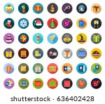 holiday icons | Shutterstock .eps vector #636402428