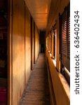 abandoned train corridor | Shutterstock . vector #636402434