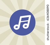 music note. icon. sign design.... | Shutterstock .eps vector #636408890