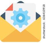 settings vector icon  | Shutterstock .eps vector #636410918