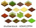farm set isometric basic... | Shutterstock . vector #636412994