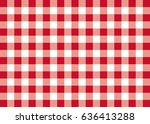 red gingham pattern background | Shutterstock . vector #636413288