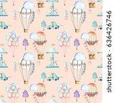 seamless pattern on weekend...   Shutterstock . vector #636426746