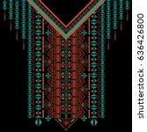 vector design for collar shirts ... | Shutterstock .eps vector #636426800