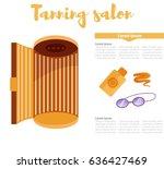 tanning salon. isolated art on... | Shutterstock .eps vector #636427469
