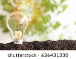 tree planting and growth up on... | Shutterstock . vector #636431330