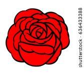 red rose isolated on white... | Shutterstock .eps vector #636433388