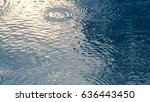 rain drops on the swimming pool ... | Shutterstock . vector #636443450