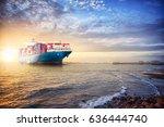 logistics import export... | Shutterstock . vector #636444740
