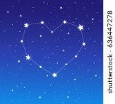 heart shaped star constellation ... | Shutterstock .eps vector #636447278