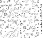 seamless pattern of hand drawn... | Shutterstock .eps vector #636451649