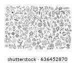 ethnic design elements sketch.... | Shutterstock .eps vector #636452870