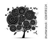 floral tree for your design.... | Shutterstock .eps vector #636458114