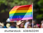 a supporting hand waving behind ... | Shutterstock . vector #636463244