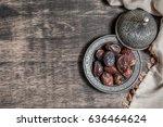 date palm for ramadan  | Shutterstock . vector #636464624