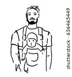 Bearded Dad With Baby In...