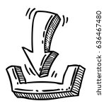 cartoon image of download icon. ...