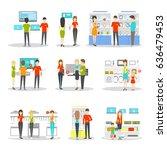 appliancies department set on... | Shutterstock . vector #636479453