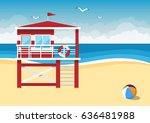 Lifeguard Station On The Beach...