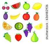 fruits for design. set of...   Shutterstock .eps vector #636482936