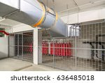 Small photo of Ventilation System and Heliox Gases (Oxygen in Helium) inside restricted/ hazardous area of industrial building.