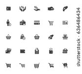 commerce icons | Shutterstock .eps vector #636486434