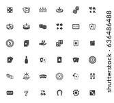 casino icons | Shutterstock .eps vector #636486488