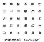 book icons | Shutterstock .eps vector #636486524