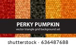 "triangle pattern set ""perky... | Shutterstock .eps vector #636487688"
