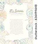 summer paradise holiday marine... | Shutterstock .eps vector #636494648