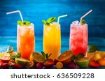 different types of summer... | Shutterstock . vector #636509228