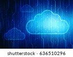 2d rendering cloud computing ... | Shutterstock . vector #636510296