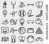 recreation icons set. set of 25 ... | Shutterstock .eps vector #636511688