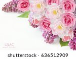 Roses  Lilac Flowers And Tulip...
