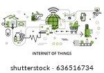modern flat line design vector... | Shutterstock .eps vector #636516734