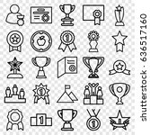 achievement icons set. set of... | Shutterstock .eps vector #636517160