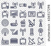 Antenna Icons Set. Set Of 25...
