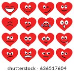 set of emoticons and emojis in... | Shutterstock .eps vector #636517604