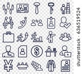 businessman icons set. set of... | Shutterstock .eps vector #636519524