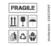 package handling labels... | Shutterstock .eps vector #636519569
