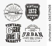 t shirt print design. set of... | Shutterstock .eps vector #636519608